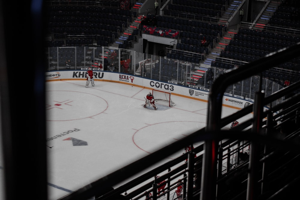 ice hockey players on field