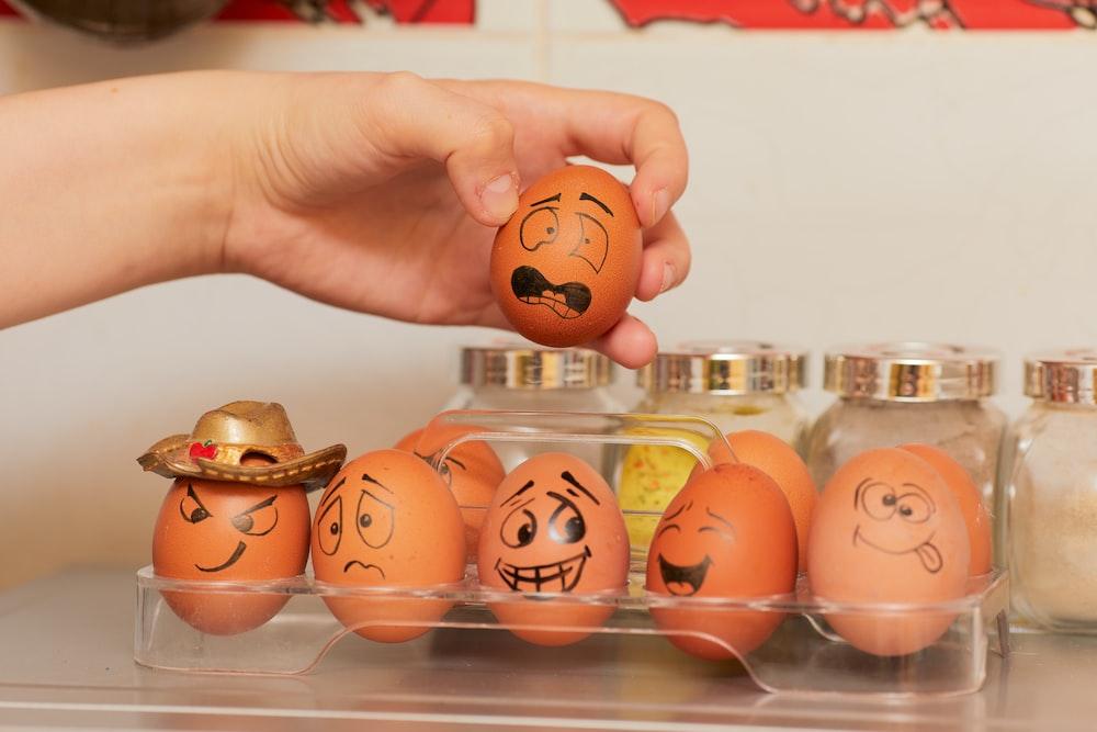 orange and white plastic egg toy