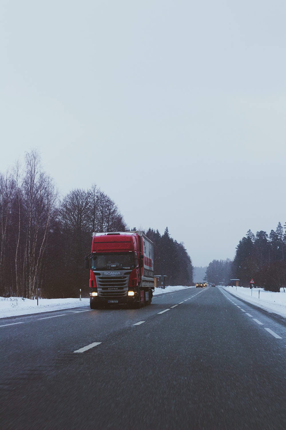 red truck on road during daytime