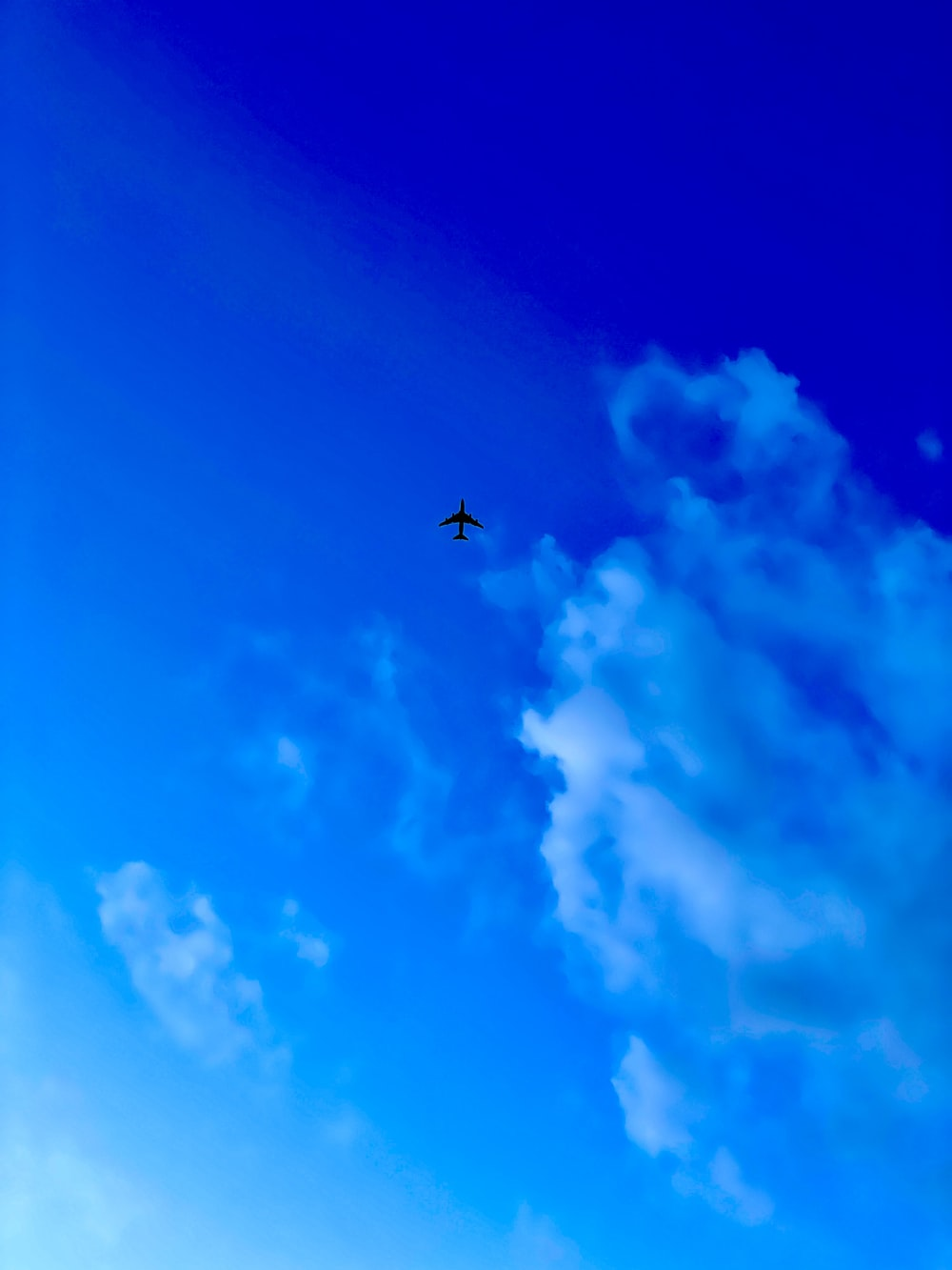 airplane in mid air under blue sky during daytime