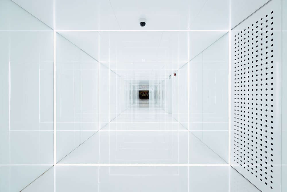 white ceiling with light bulb