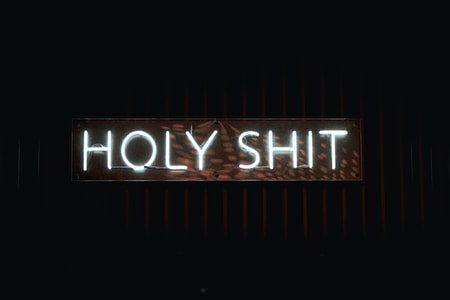 holy shit neon sign