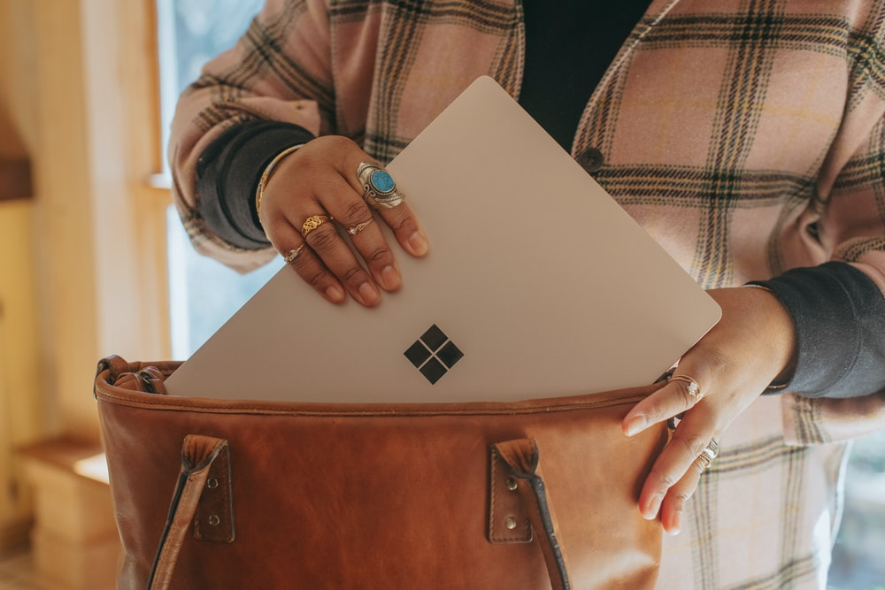 person holding a Surface device