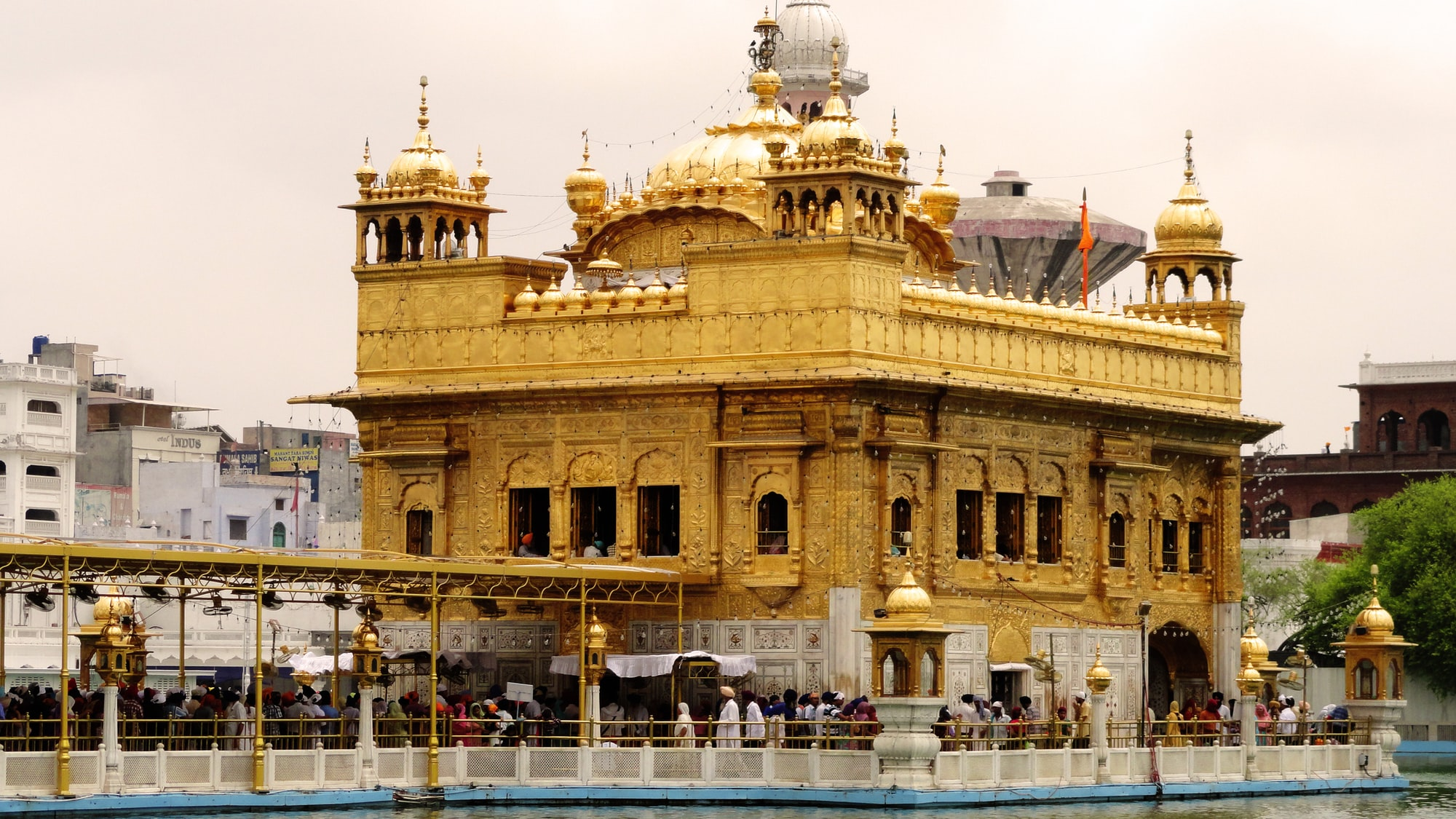 Sri Harmandir Sahib (Golden Gurudwara) (Golden Temple), one of the most sacred holy sites for Sikhs around the world, is being renovated with 160 kg gold. The gold plating is being done on the four domes at the entrance of the Gurudwara