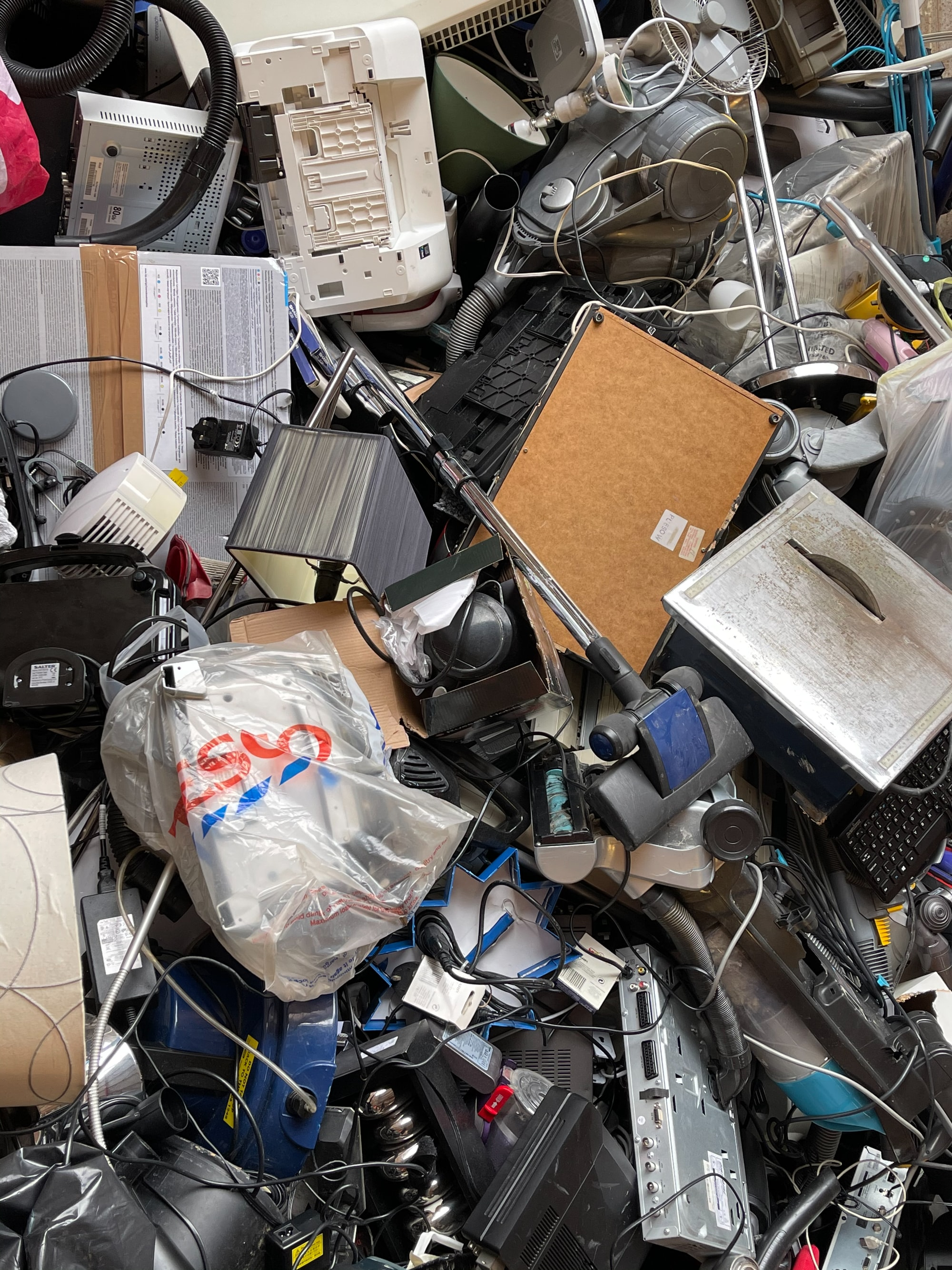 Domestic appliances being recycled, SW London