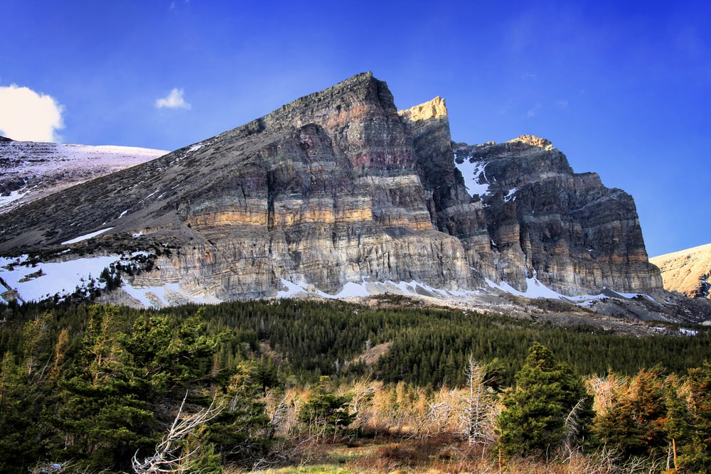 gray rocky mountain under blue sky during daytime