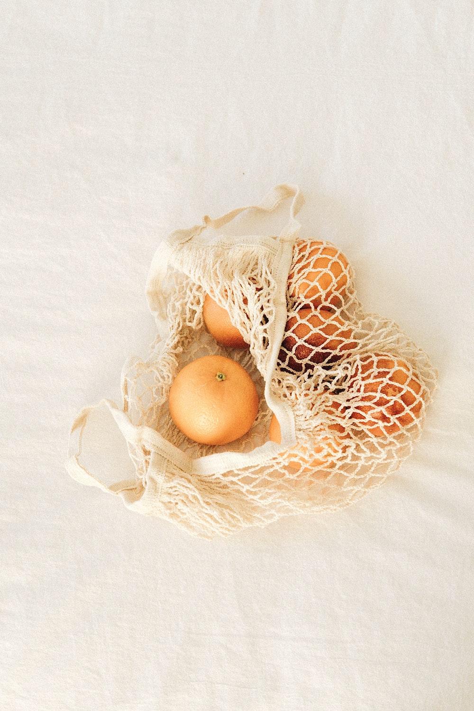 brown egg on white net
