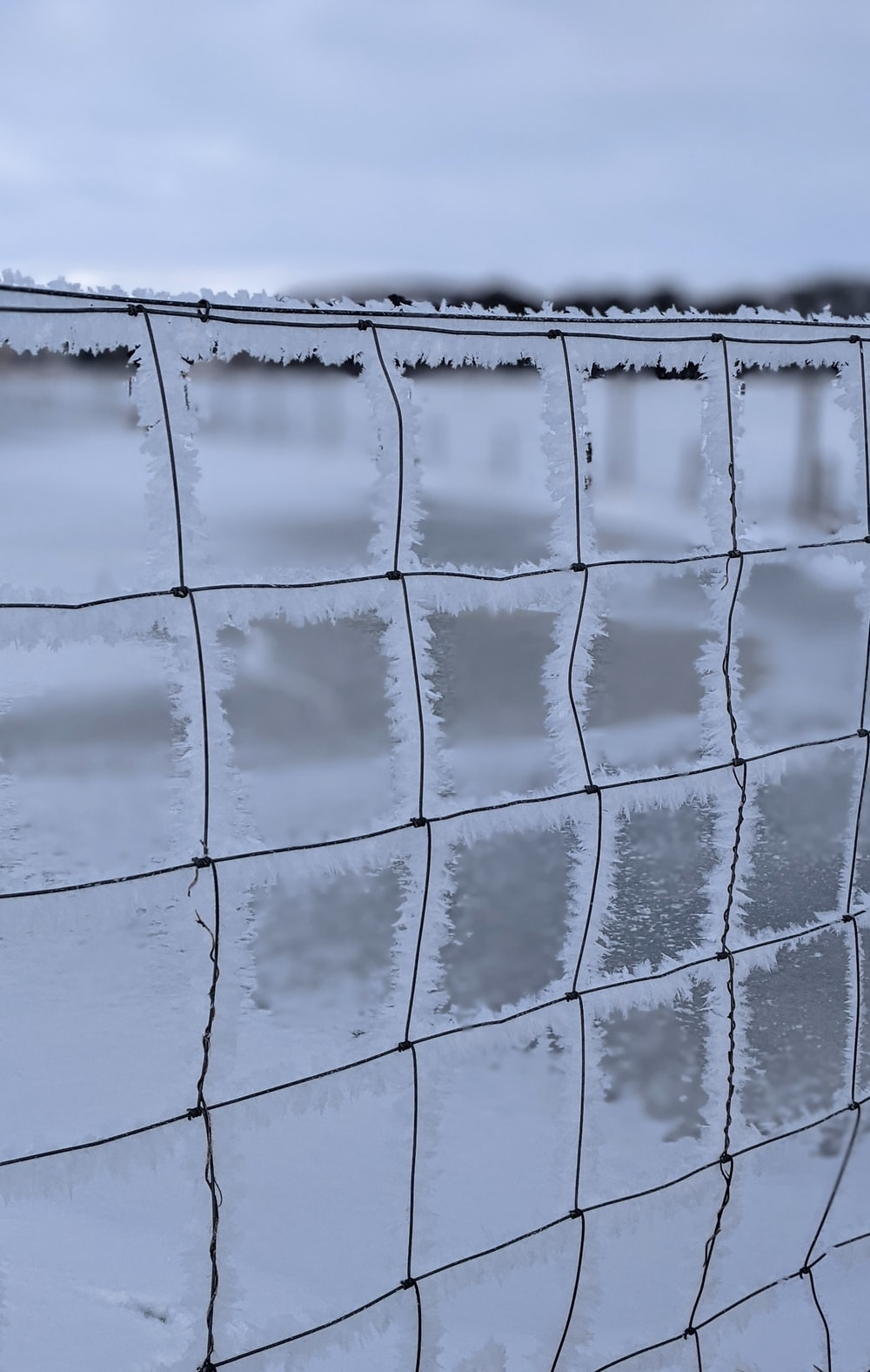 white and black metal fence