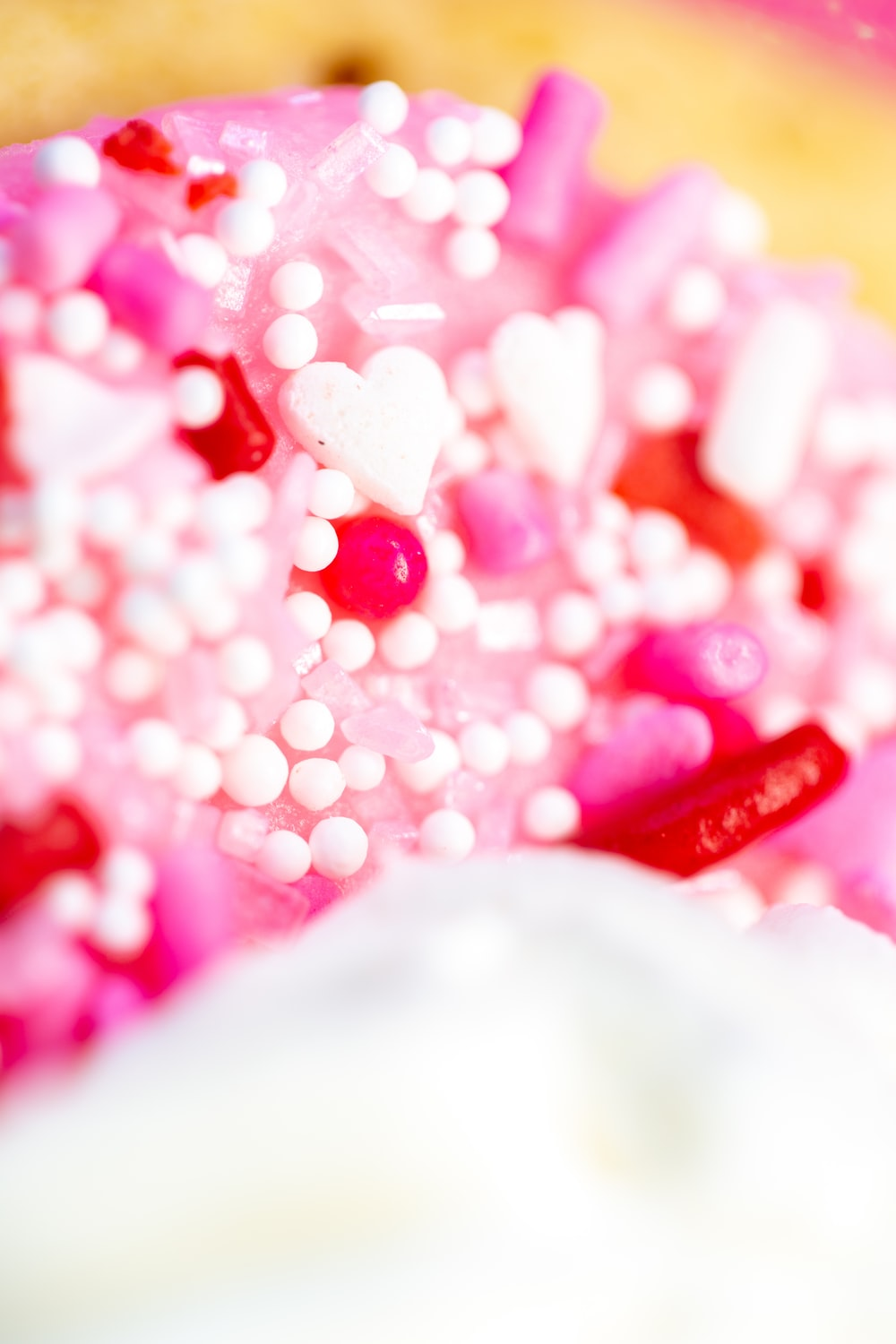 pink and white heart beads