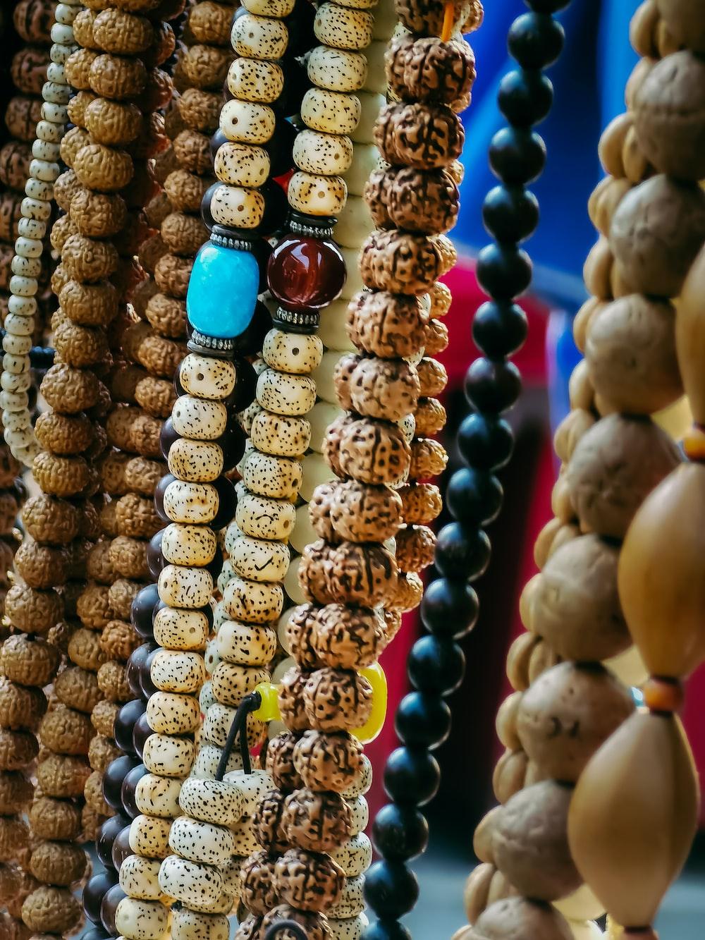 blue and gold beaded bracelet