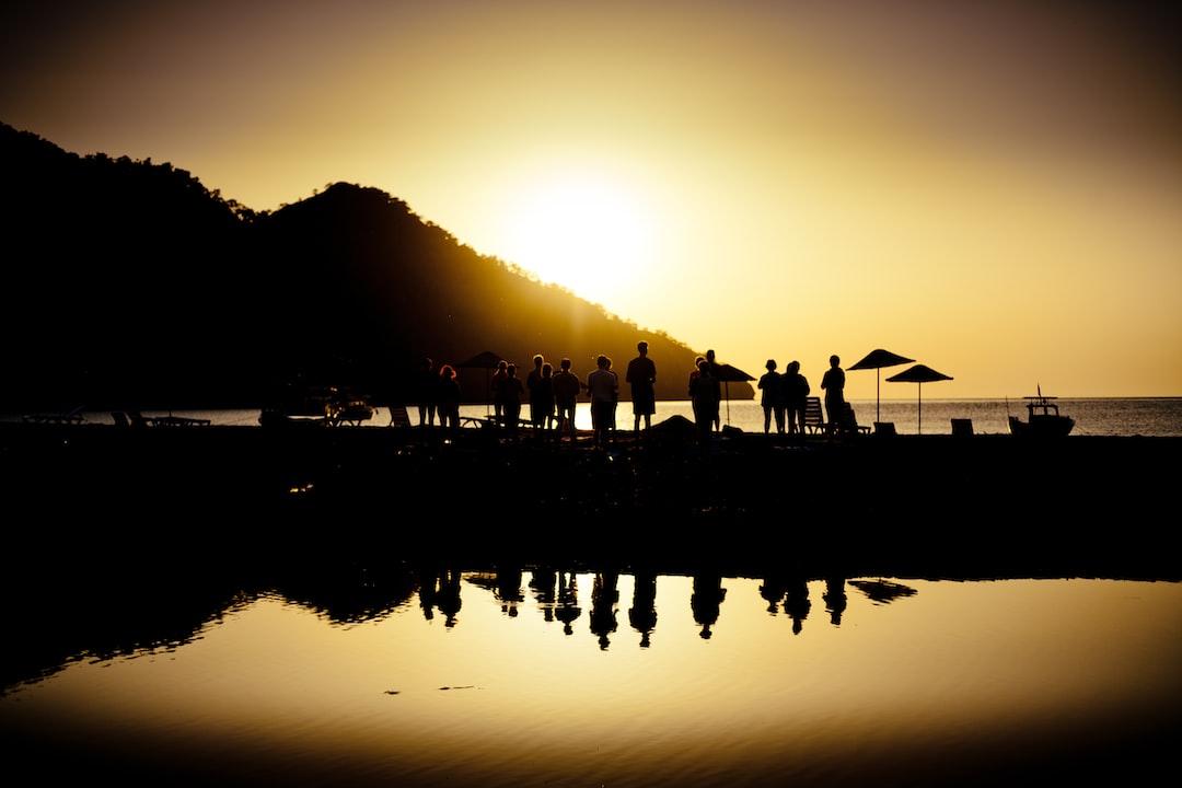 Yoga at sea cost Sunrise silhouette above sea and sky Turkey