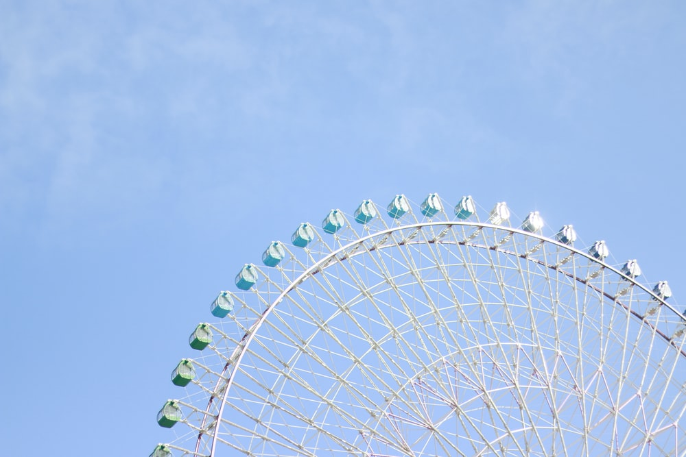 white ferris wheel under blue sky during daytime