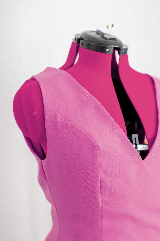 pink and black long sleeve shirt