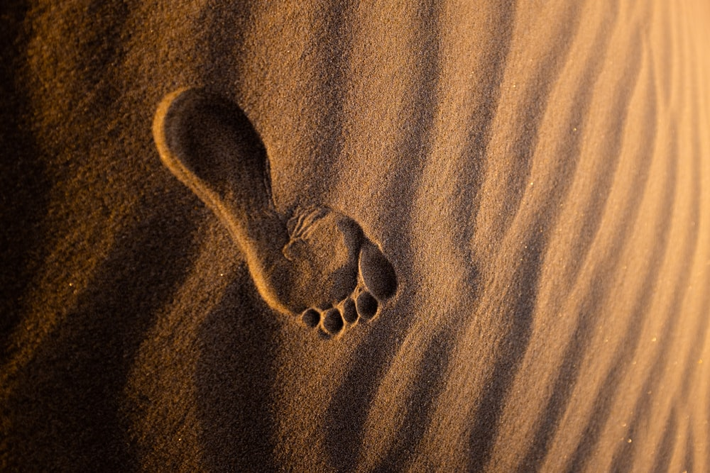 brown sand with heart shaped stones