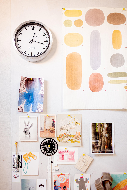 the artist's studio • in the atelier of the Italian artist and decorator Francesca Zoboli