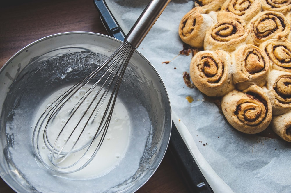 brown cookies on stainless steel plate