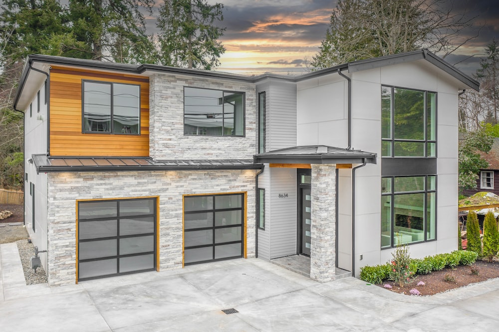 white and gray wooden house