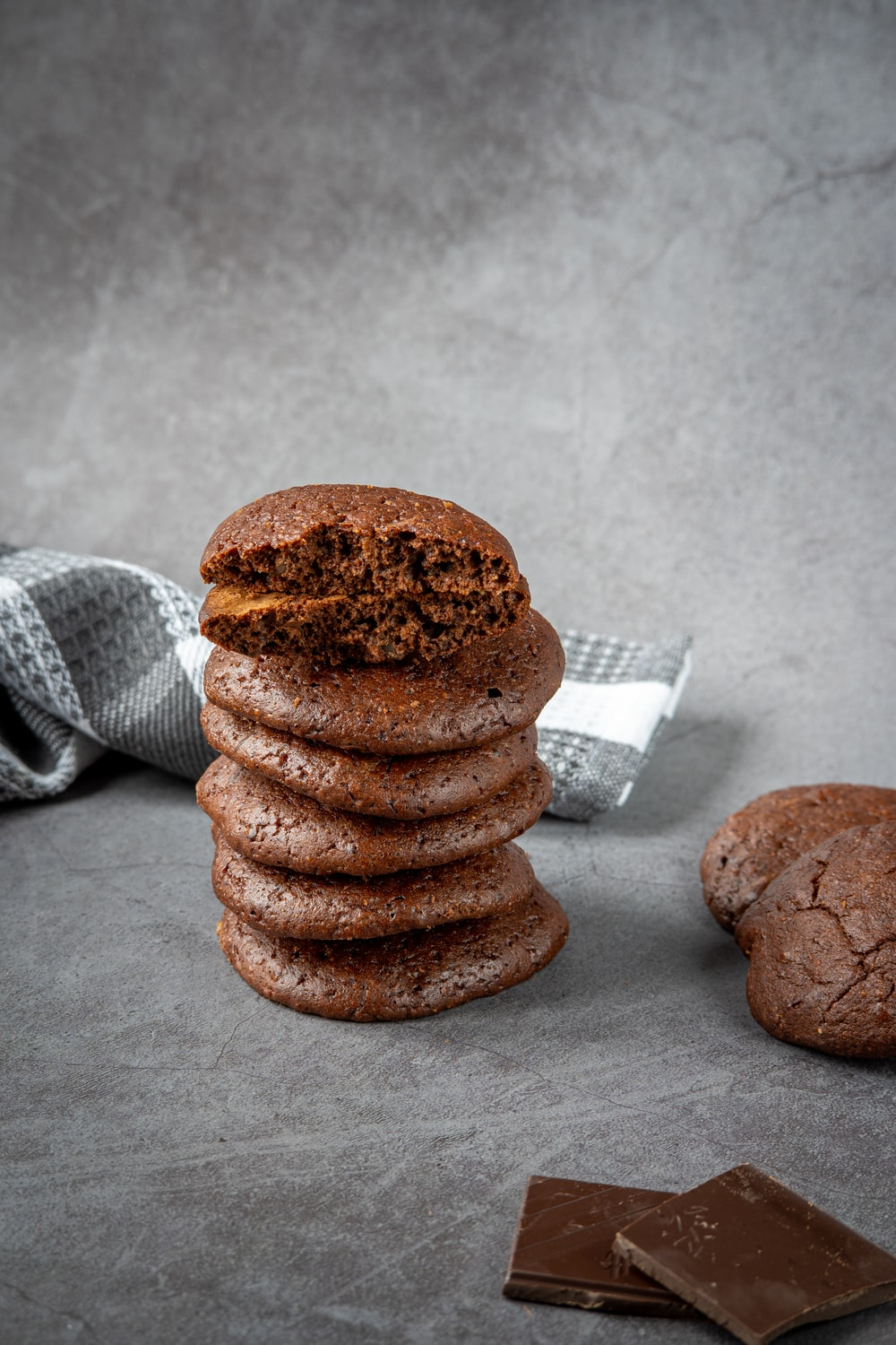 brown cookies on white and black checkered textile