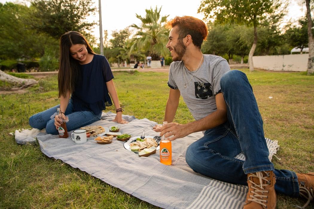 couple picnic blanket