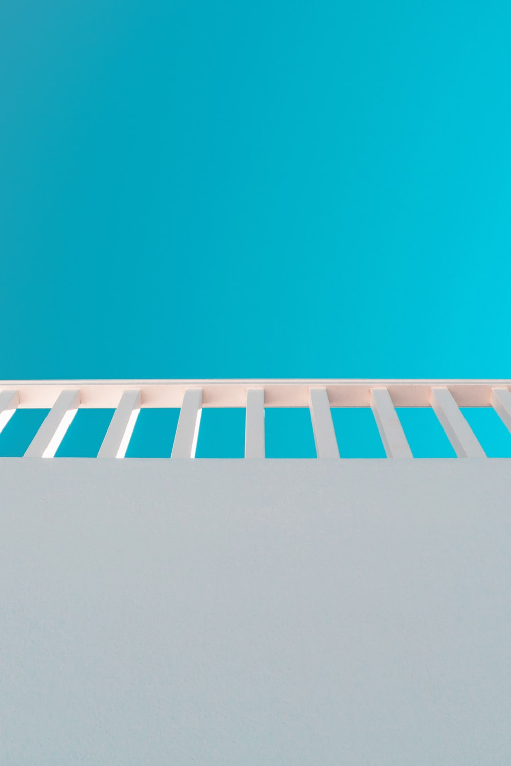 orange and blue striped wall