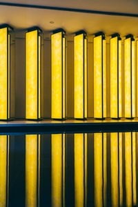 yellow and blue metal bars