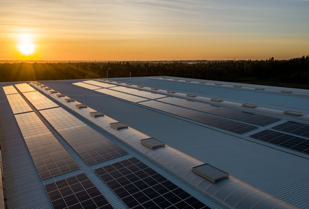 black and white solar panels