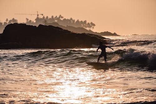 Surfing at Arugam Beach