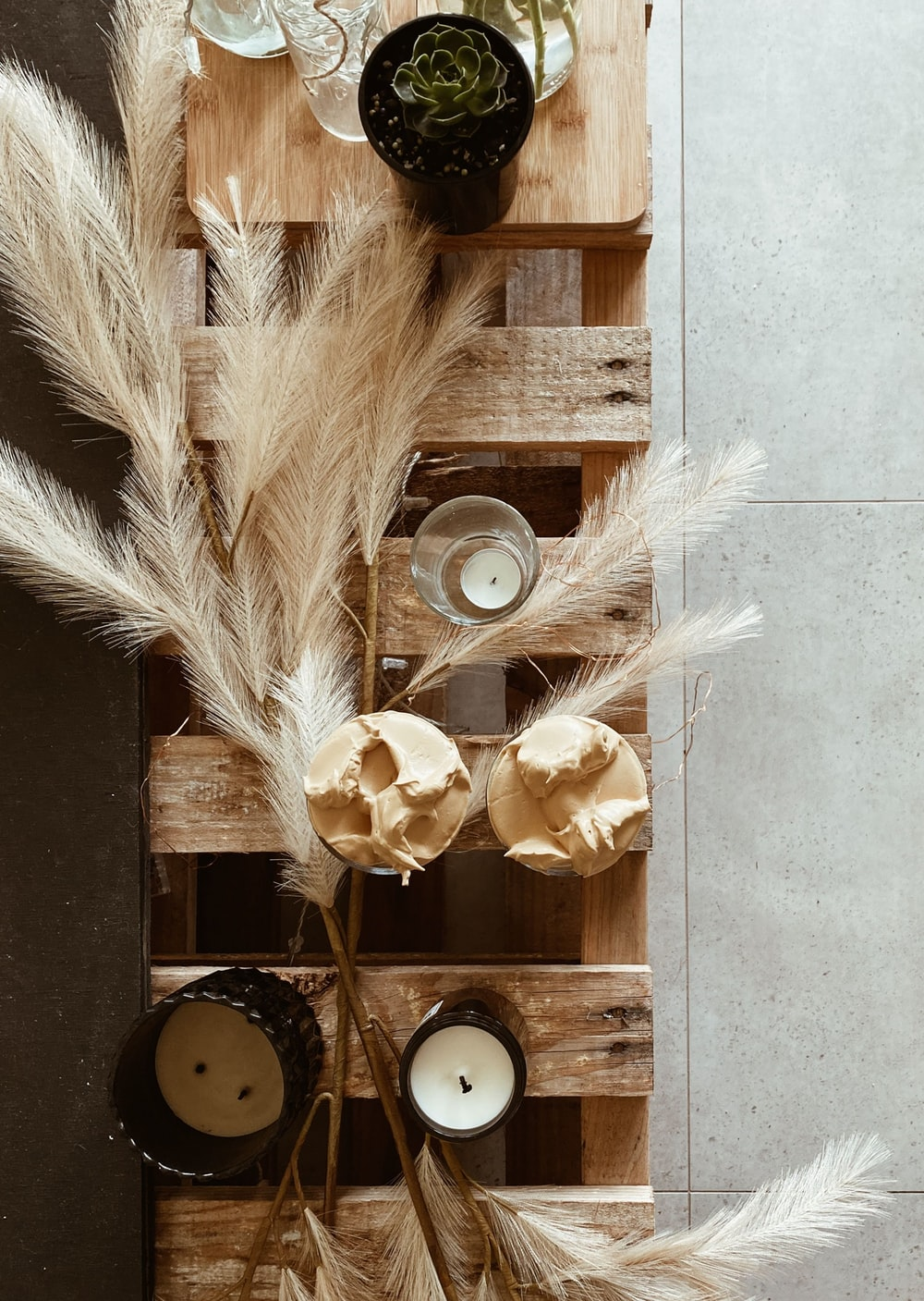 brown wooden wall decor on white wall