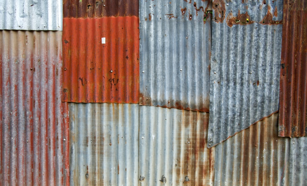 white and red wooden wall