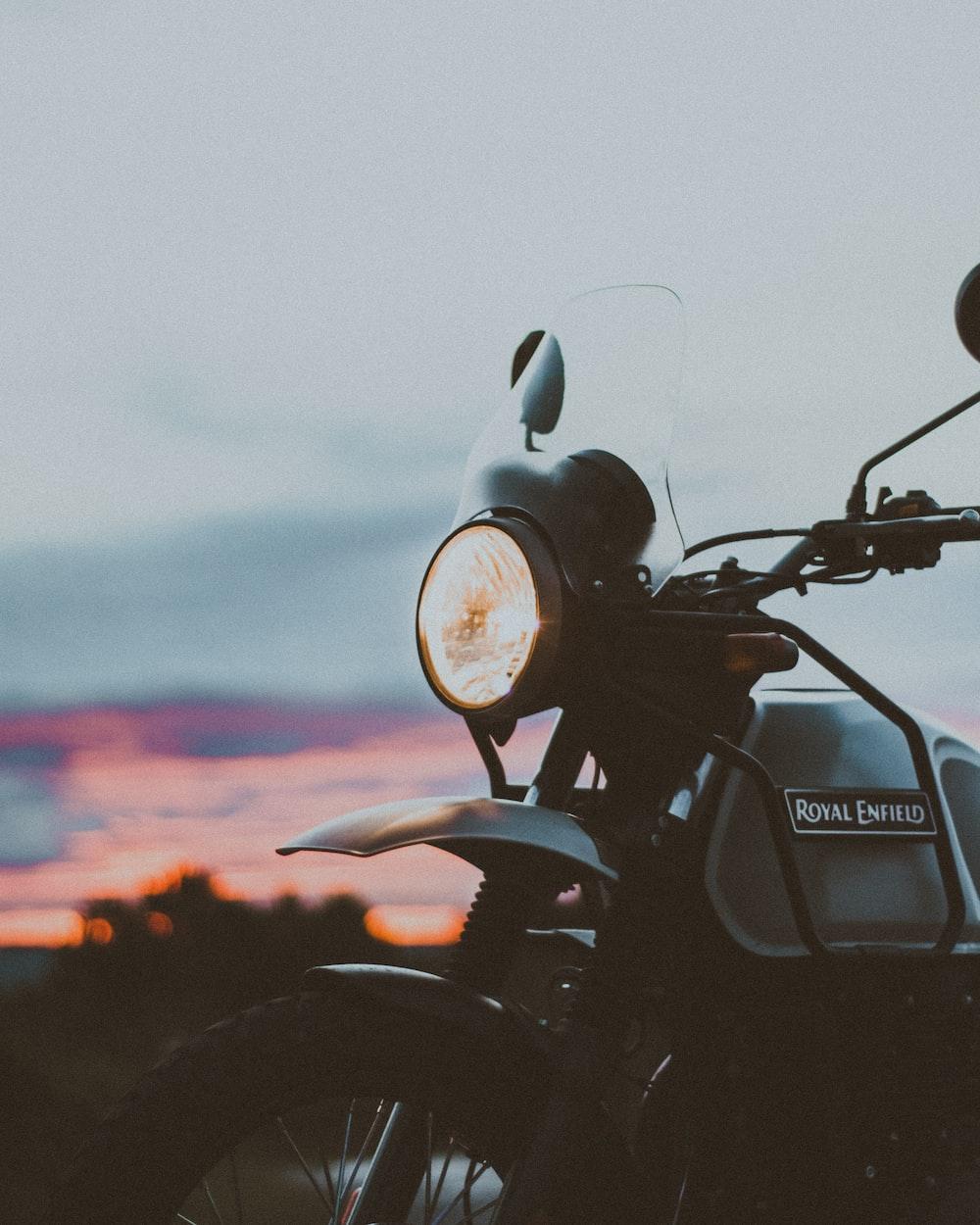 black and silver honda motorcycle