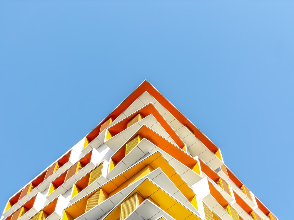white and yellow concrete building