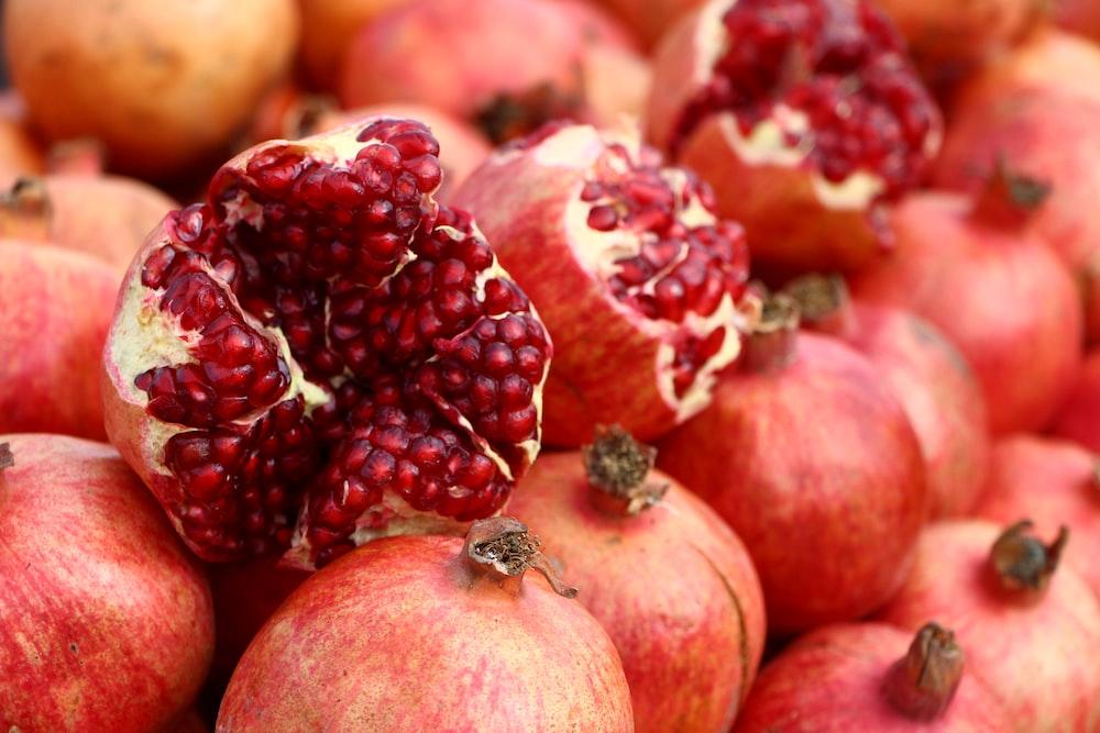 red fruit in macro shot