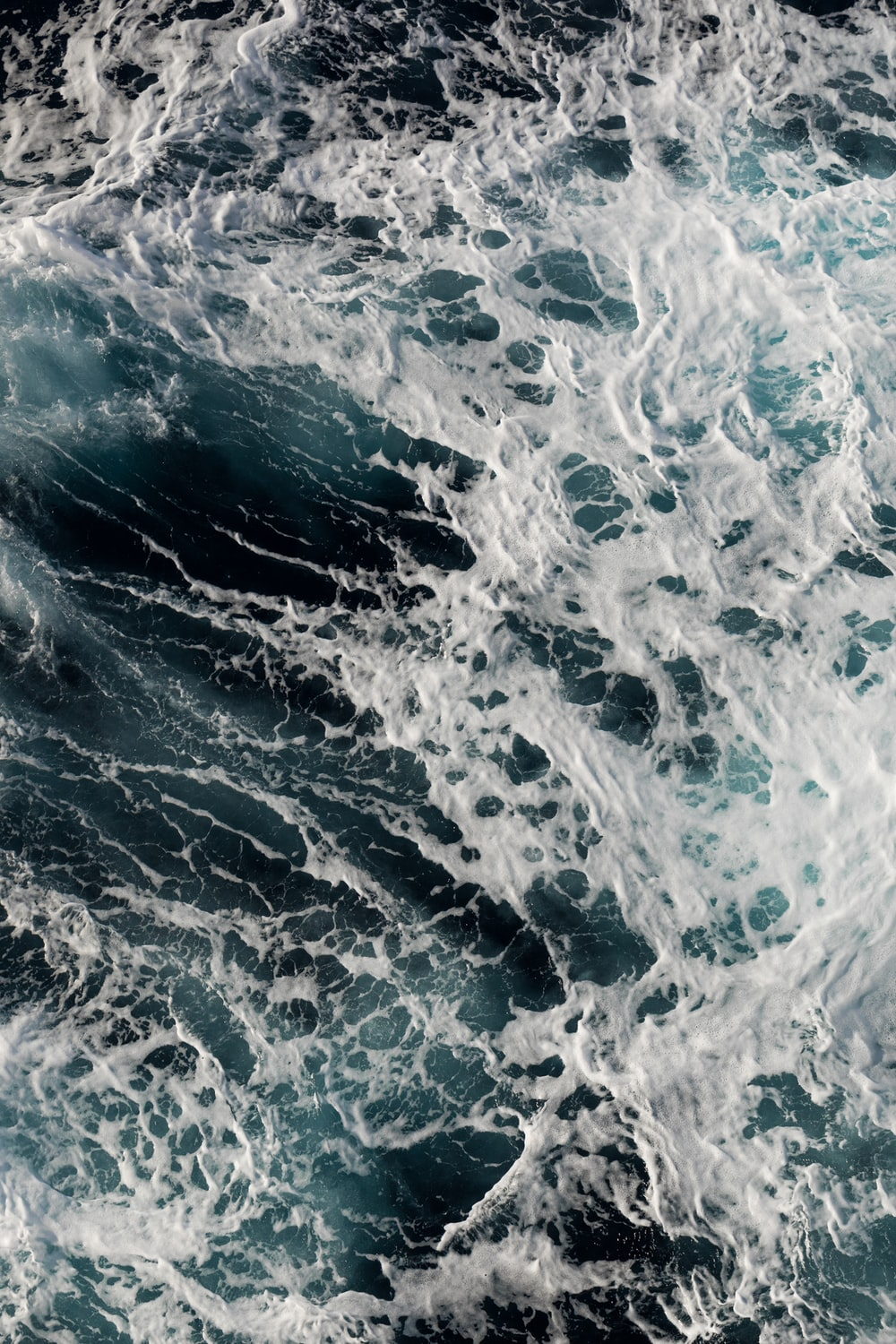 blue and white water waves