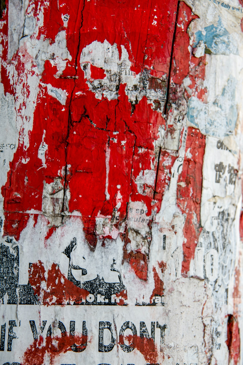 red white and gray abstract painting
