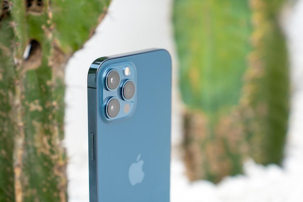 blue and black rectangular device