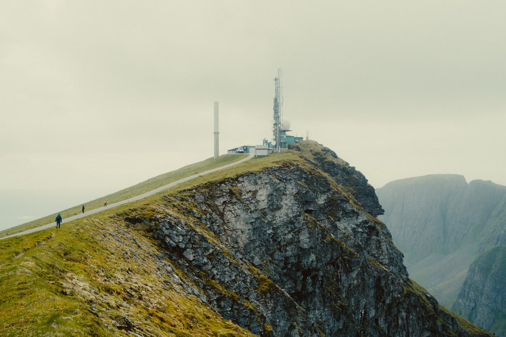 white tower on top of mountain