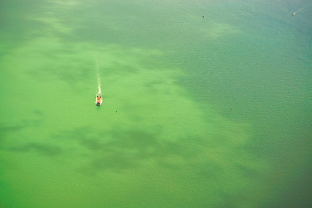 person surfing on green water during daytime