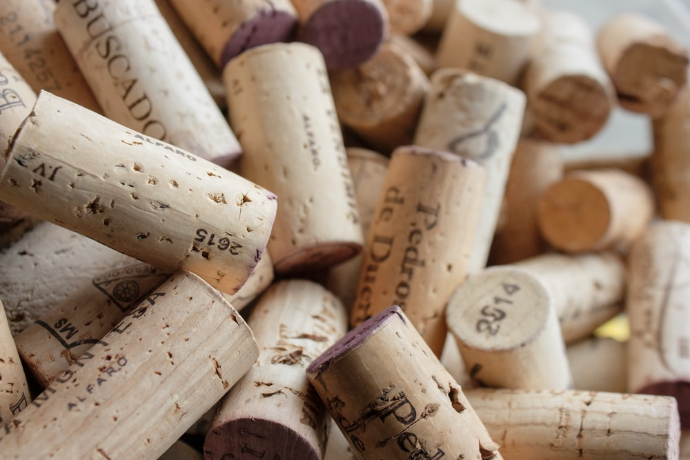 white and brown wooden cork
