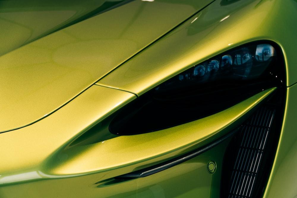 yellow car with opened door