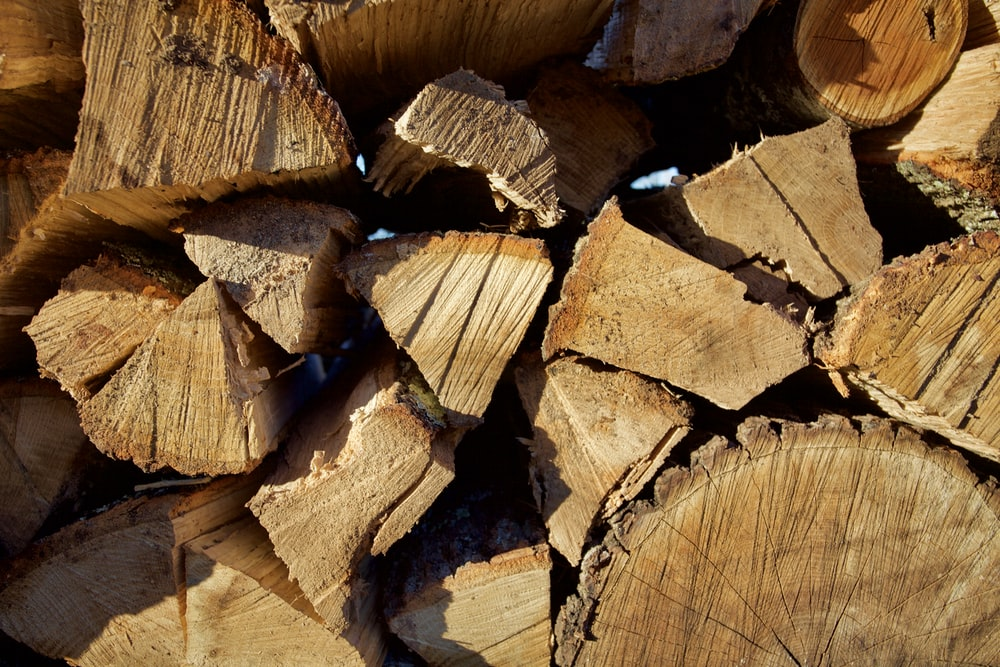 brown wood logs in close up photography