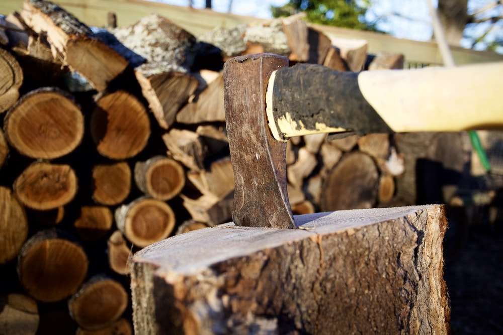 brown and gray firewood stack