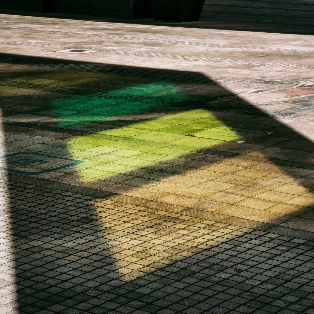 green and brown concrete floor
