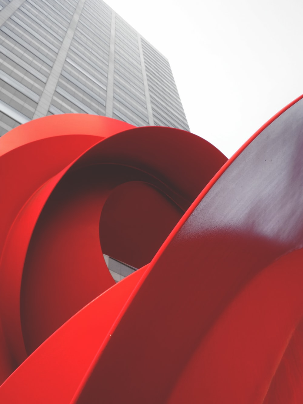 red spiral stairs during daytime