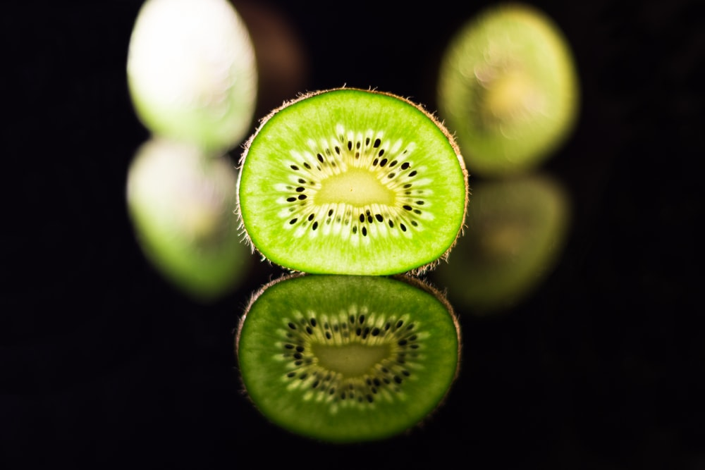 green and white round fruit