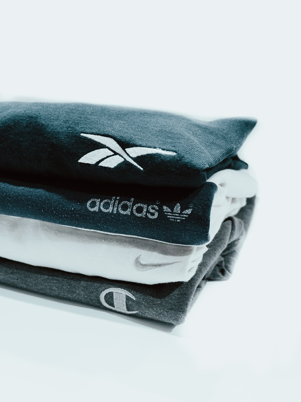 blue and white puma textile