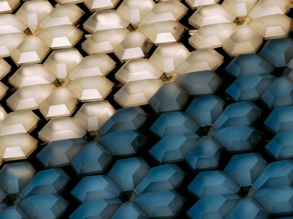 blue and white diamond pattern