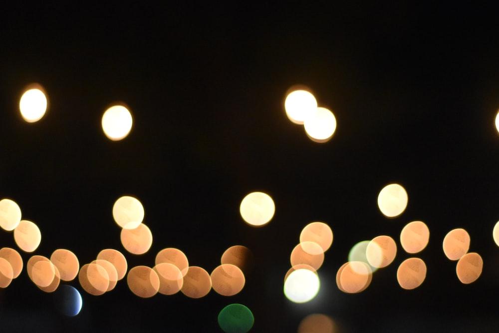 yellow and green bokeh lights