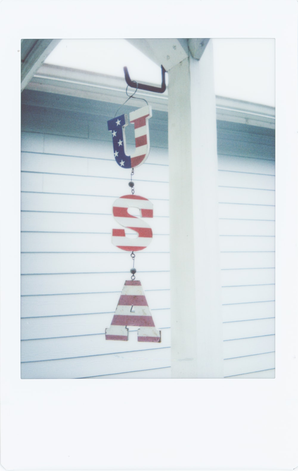 red and white hanging decors