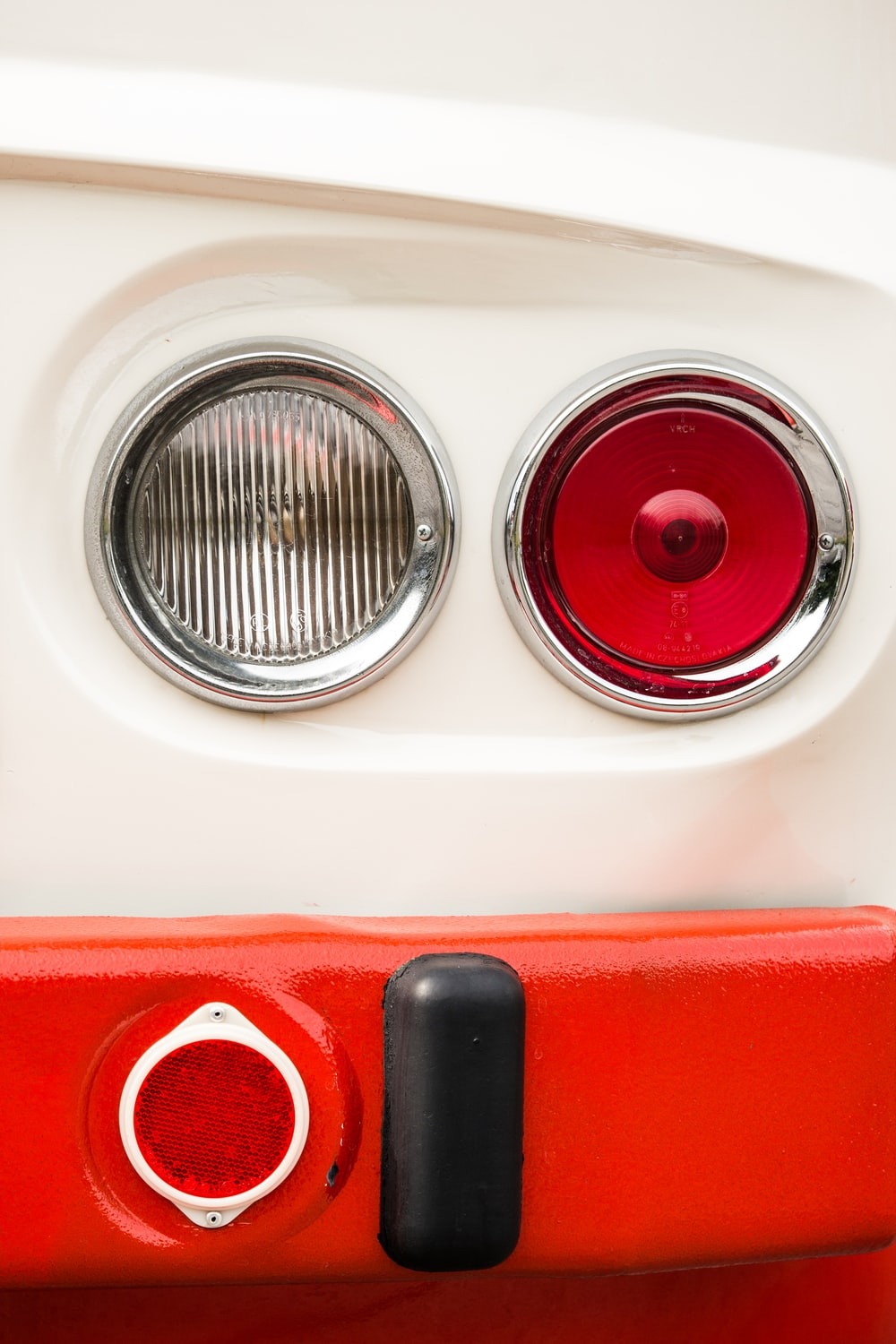 red and black car light