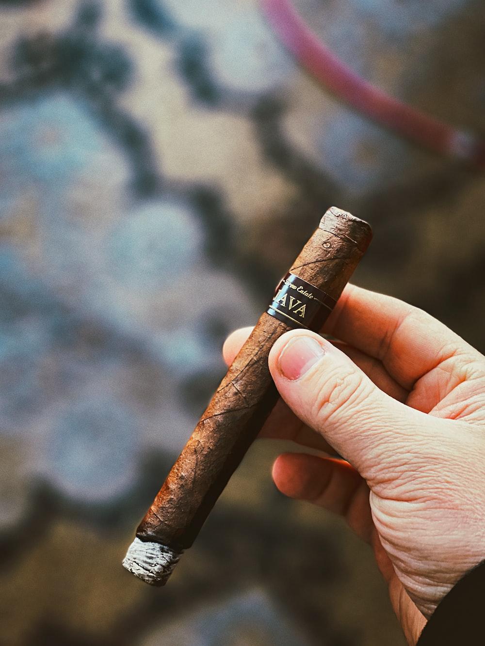 brown and black cigarette stick